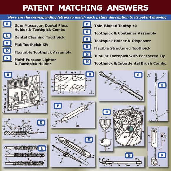 Toothpick Patents